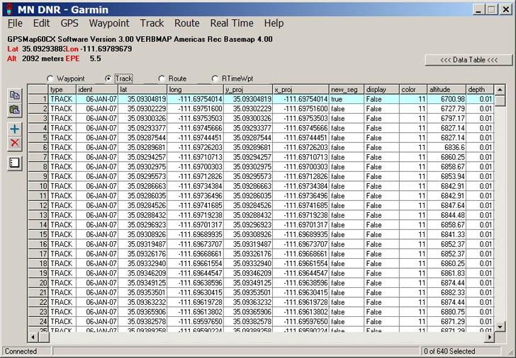 exporting a shapefile to a Garmin GPS with DNRGarmin