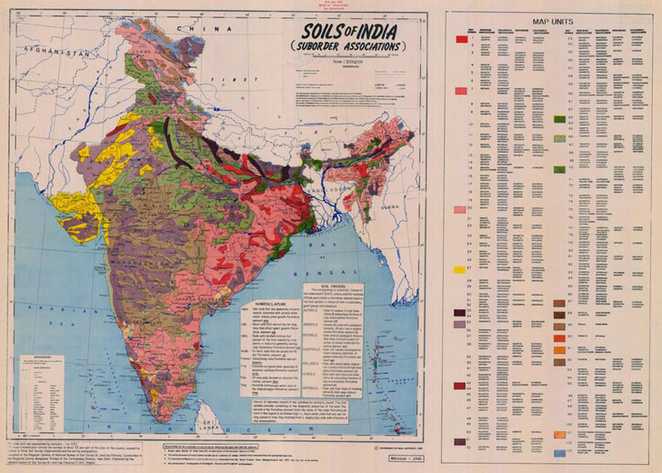 Rocks and dirt geology and soil maps of the us and world for Soil in india