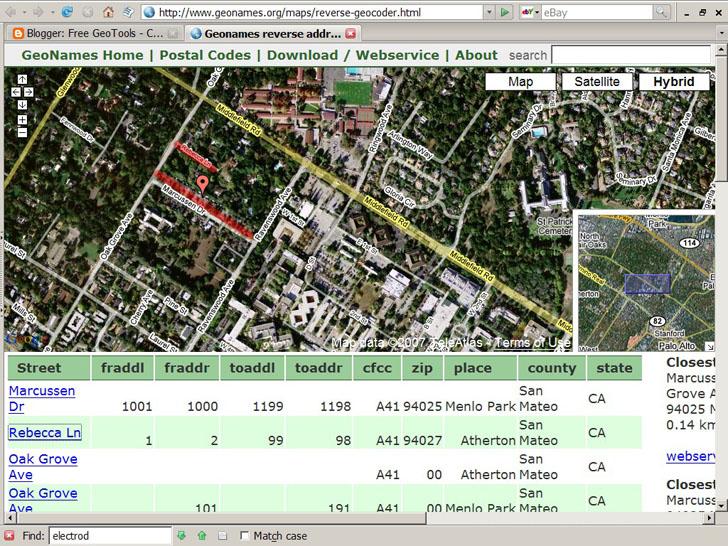Google Maps reverse geocoder