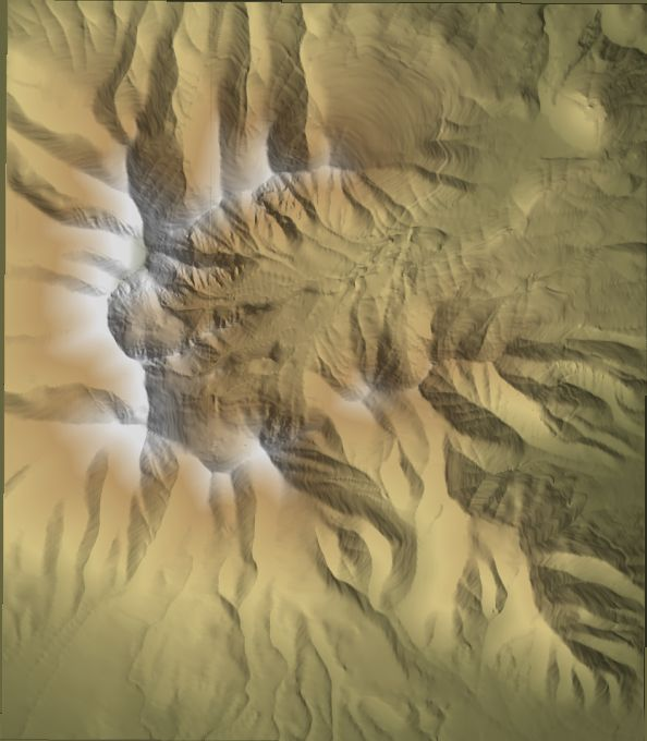 Modified terrain shaded colors with 3DEM