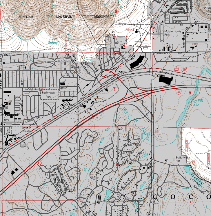 sample USGS topographic map updated by the US Forest Service