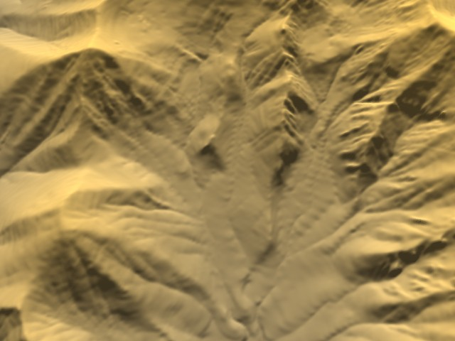 Terrain perspective view with 3DEM