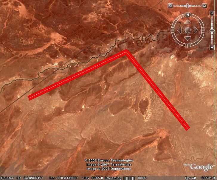 line buffering in Google Earth