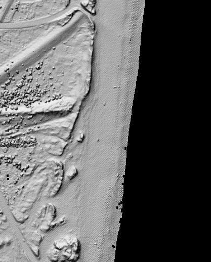 LIDAR image from North Carolina Outer Banks