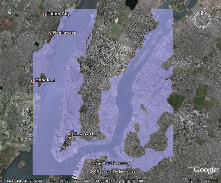 Google Earth overlay with transparent color
