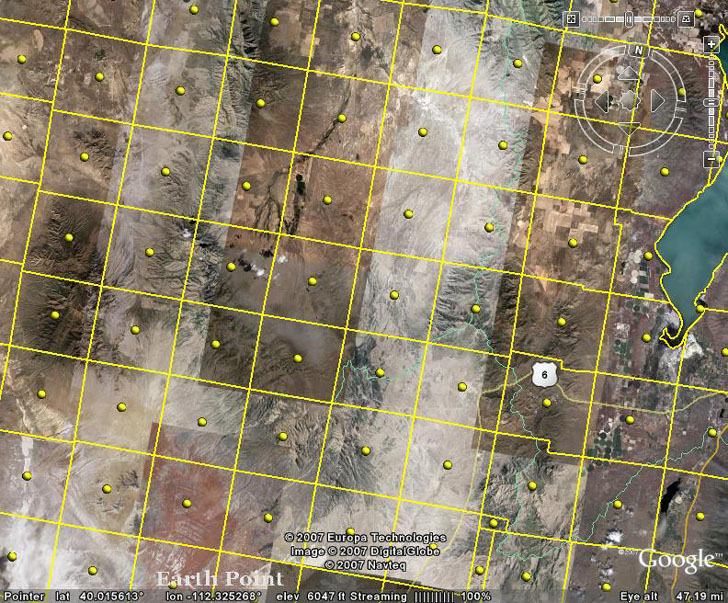 View PLSS Public Land Survey System data in Google Earth