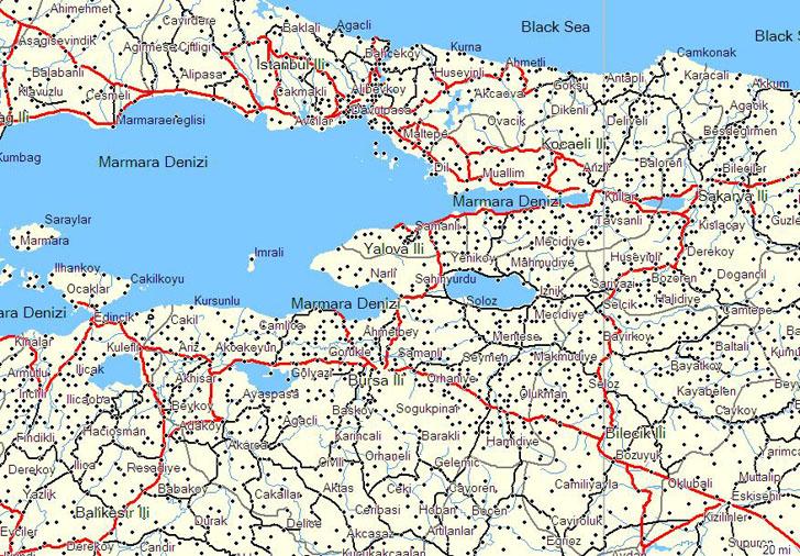 Garmin Turkey map