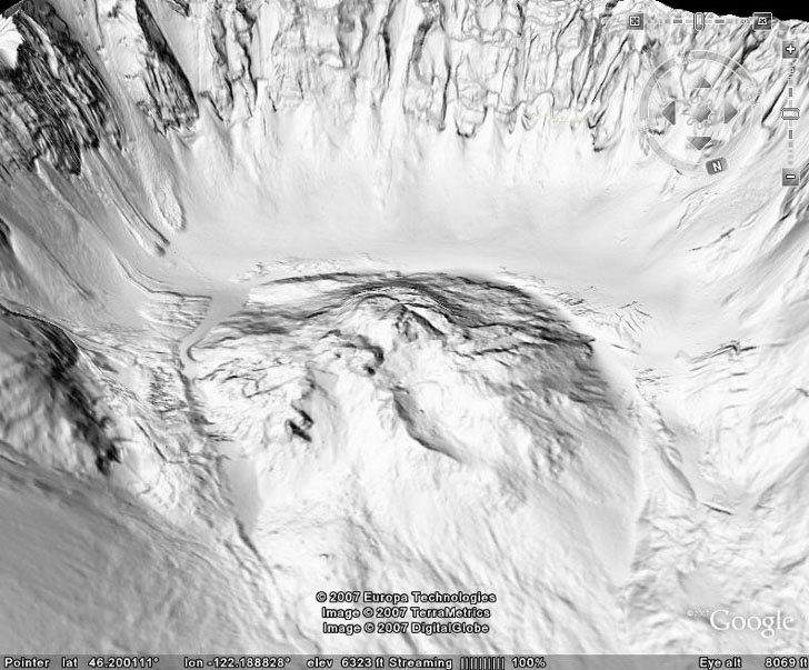 LIDAR DEM view of Mt. St. Helens