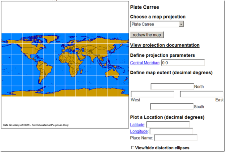 Online Map Projection Viewers I on