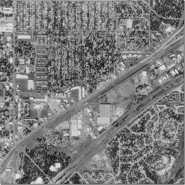 Black And White Aerial Photo