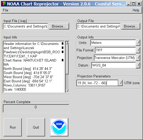 Reproject NOAA BSB Raster Navigation Charts And Export Them