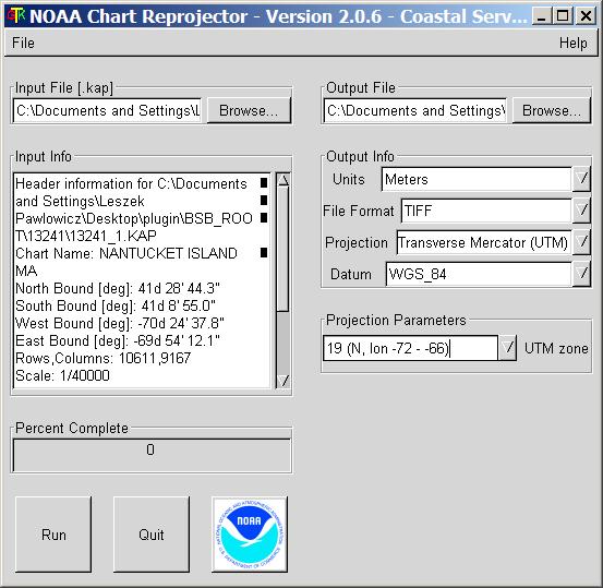 NOAA Chart Reprojector