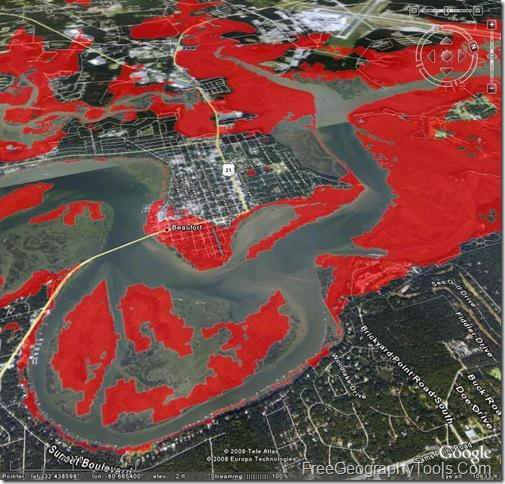 Flooding in Beaufort, SC