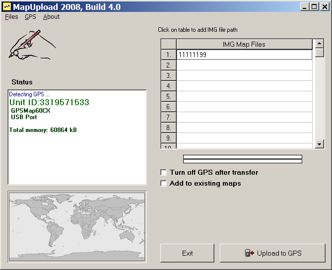 Uploading  img Map Files To A Garmin GPS Unit With MapUpload