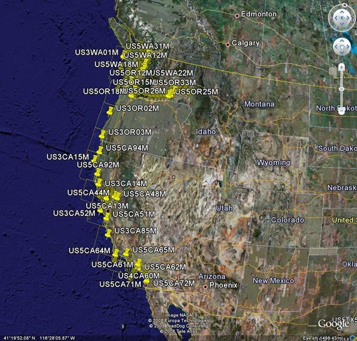 Nautical charts in Google Earth