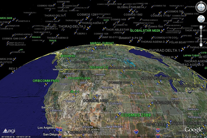 Real-Time Satellite Visualization In Google Earth on