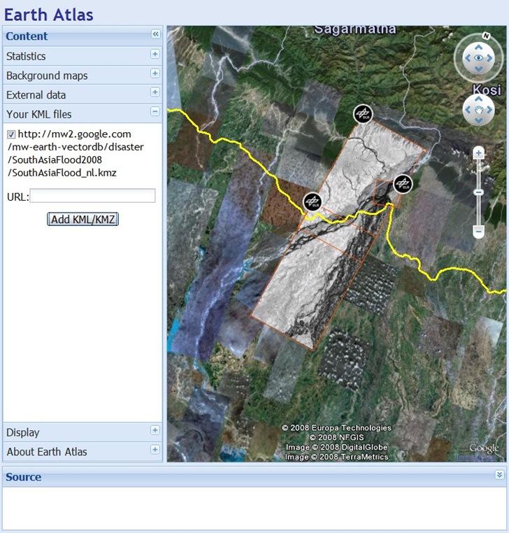 Google Earth plugin display with Earth Atlas