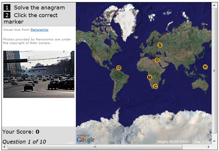MapChannels geography quiz