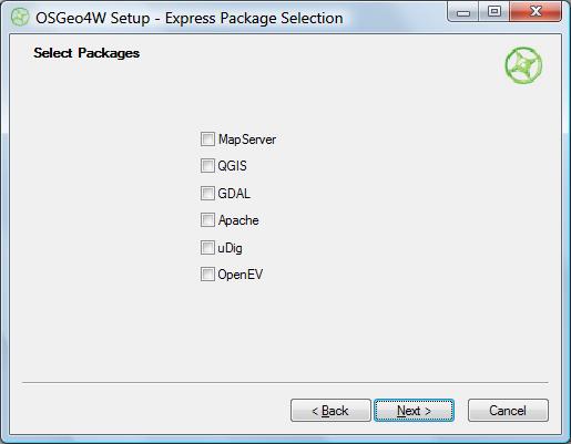 OSGeo4W Express install