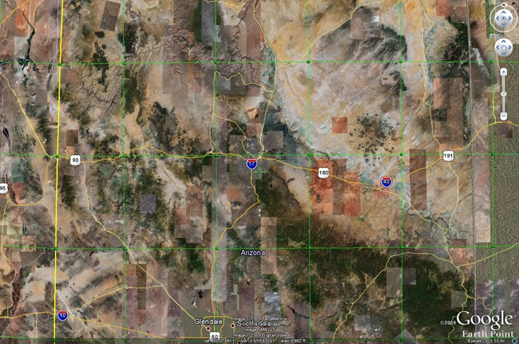 fine utm grid Google Earth