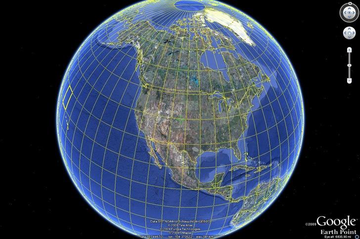 utm grid Google Earth