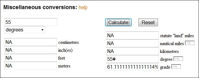 Two Online Map Scale Calculators