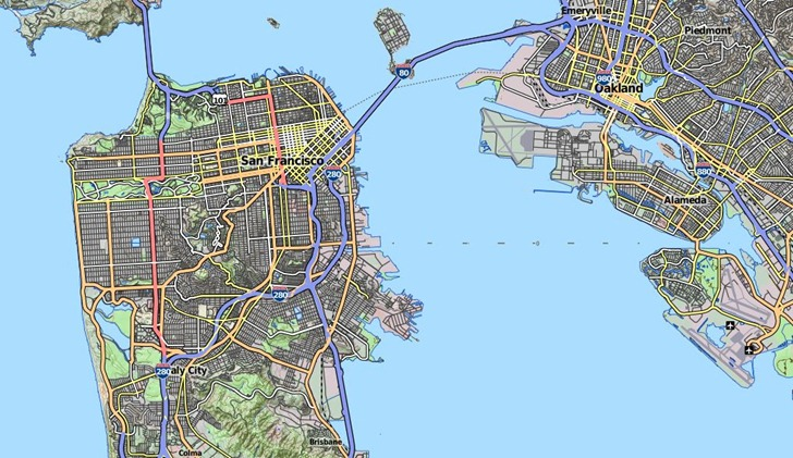 TopOSM – An Open Street Map Based Topographic Map