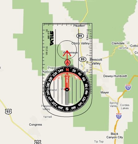 Learn Plan Compass Use In A Google Maps Interface