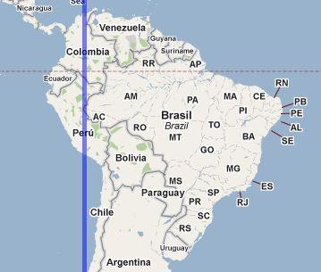 south america map with longitude and latitude lines Compare Point Latitudes And Longitudes With Iso Longitude Latitude