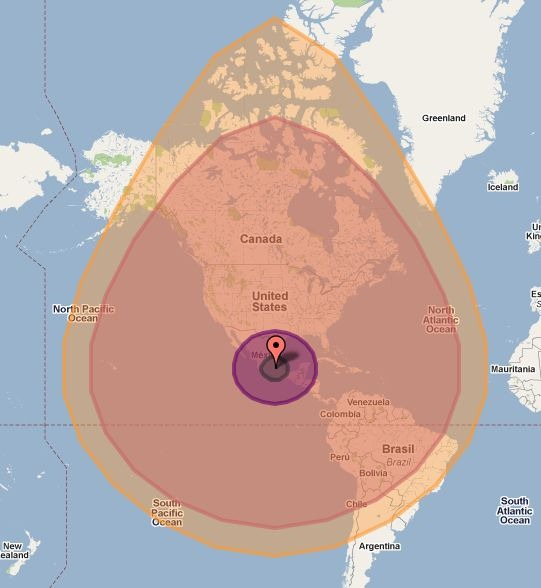 Nuke a city with the ground zero mapplet asteroid the main version is a google maps sciox Choice Image